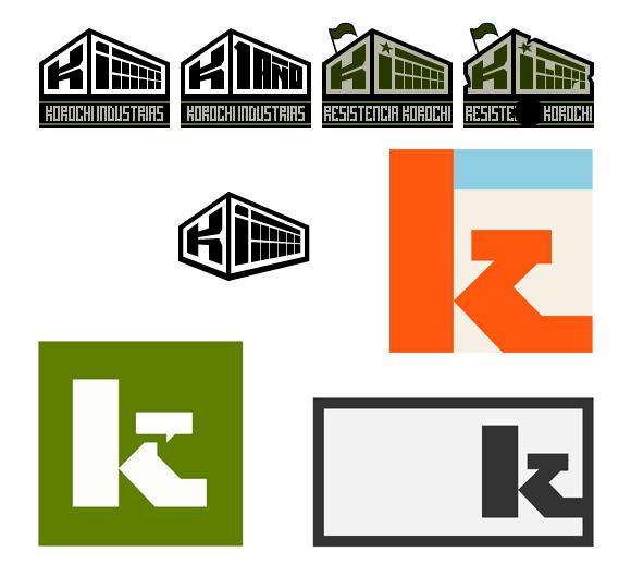 Uno de los primeros logos de Korochi Industrias